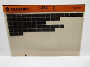 Details about Suzuki LT80 1996 T Parts Catalog Microfiche August 1995
