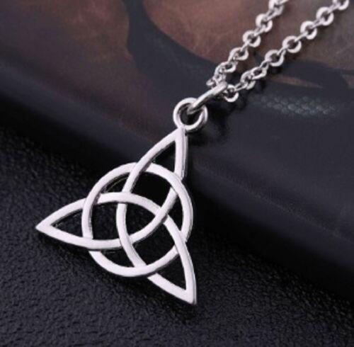 Antique Silver Celtic Cross Viking Pagan Rune Pendant Necklace /& Chain UK Seller
