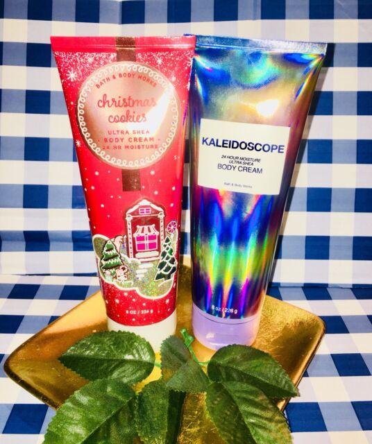 Bath & Body Works ️💙CHRISTMAS COOKIES & KALEIDOSCOPE. 24Hr Body Cream 2pc Set.   eBay