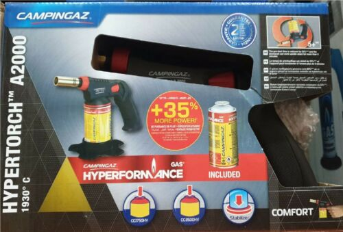 A2000 Hyperformance Blowlamp with Gas Soldering Iron Hypertorch New Campingaz