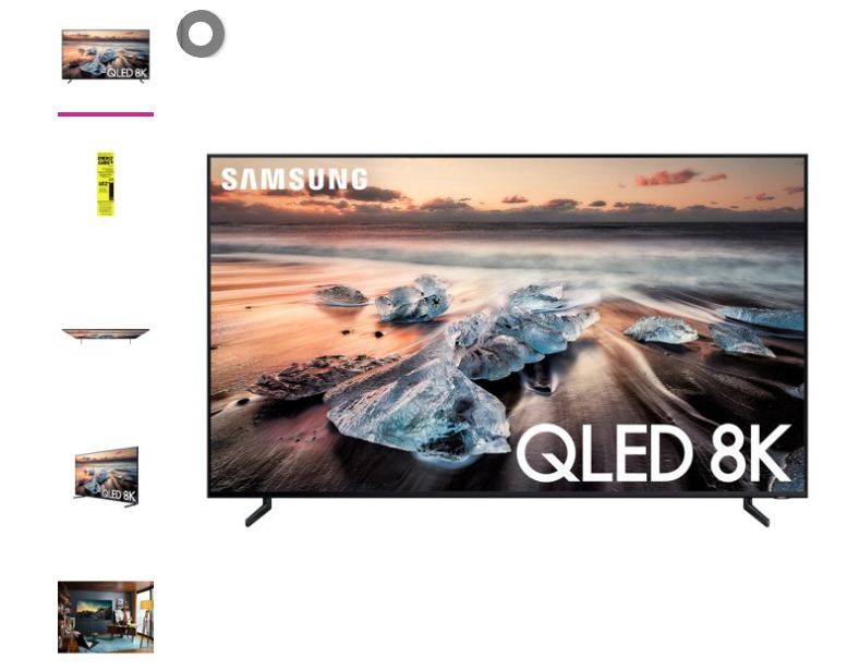 SAMSUNG 82 Inch Class 8K Ultra HD (4320P) HDR Smart QLED TV QN82Q900R (2019 Mode. Available Now for 1200.00