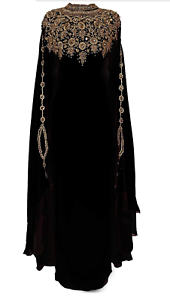 SALE New Moroccan Dubai Kaftans Farasha Abaya Dress Very Fancy Long Gown MS 24