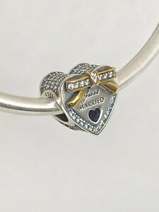 Details about Authentic Pandora 14K Gold Wedding Day Just Married Charm  #792083CZ+Box