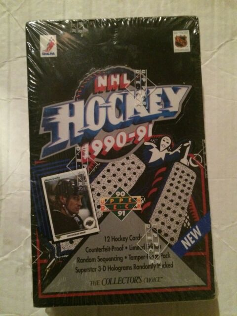 1990-91 Upper Deck Hockey Cards, Sealed 36 ct. Box