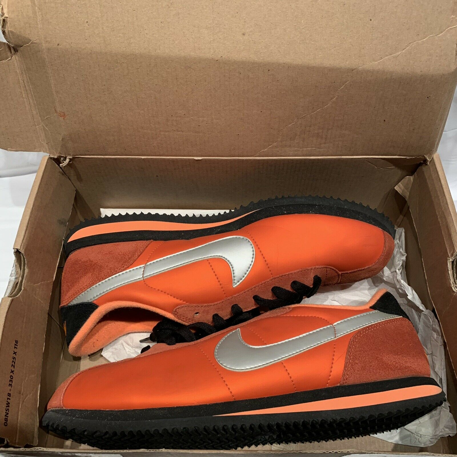 Old School Nike orange Blk  Silver size 10