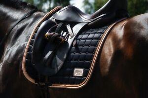 Equito Black Peach Dressage Saddle Pad