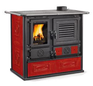 Stufa-cucina-a-legna-con-accumulo-NORDICA-Mariarosa-8-6-kW-liberty-bordeaux