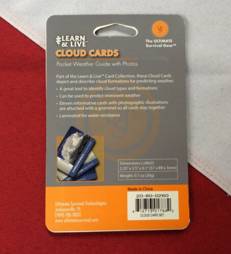 CLOUD CARDS descriptions learn/&live card emergency disaster survival prepare UST