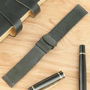 20mm-22mm-Stainless-Steel-Mesh-Watchband-Bracelet-Wristwatch-Strap-Replacement