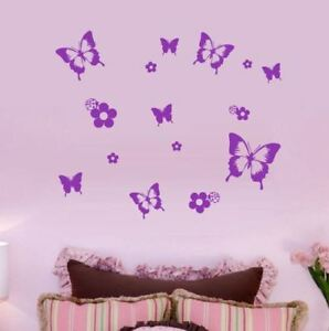 32 Butterfly STICKERS Any Colour Car Wall Stickers Decals Graphics Butterflies