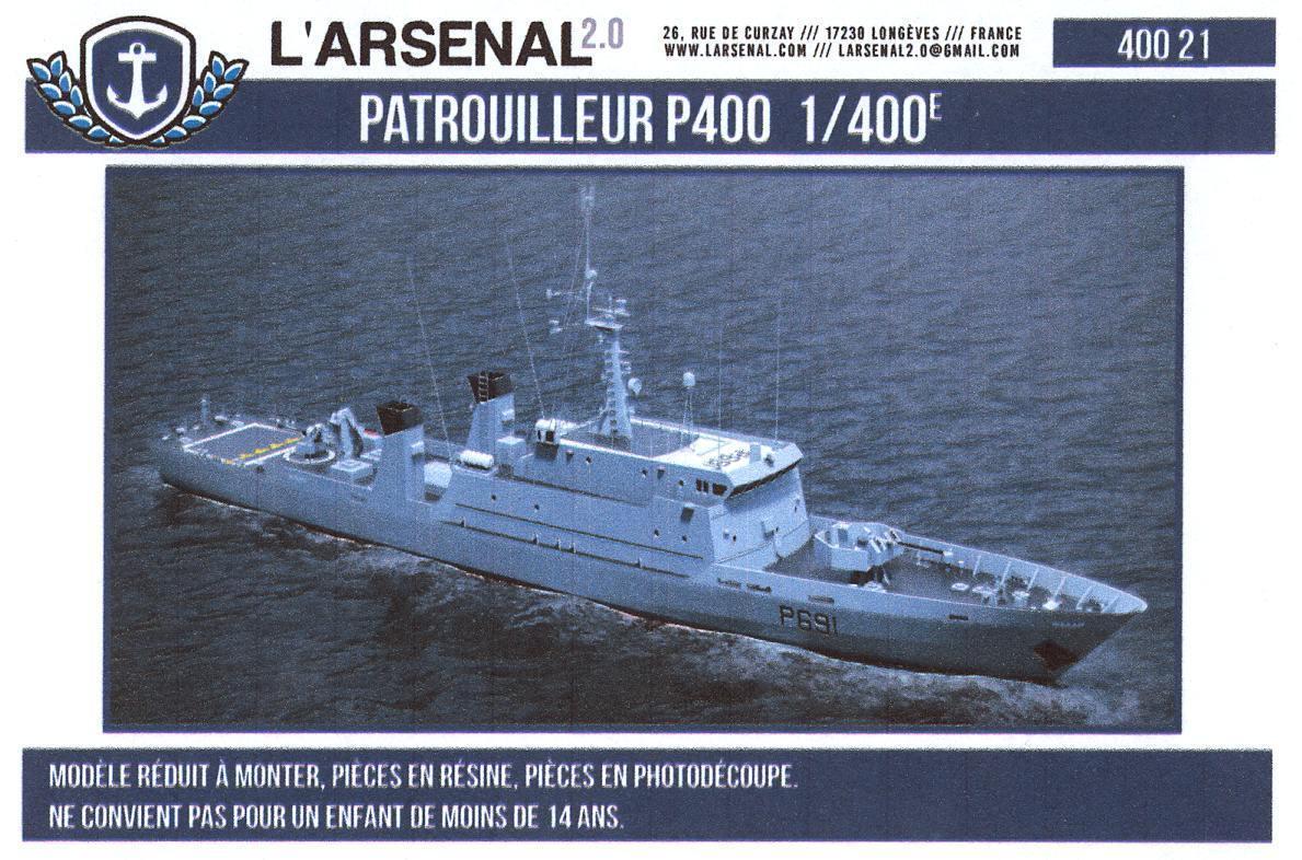 L'Arsenal Models 1 400 P400 French Patrol Boat Resin & Photo Etch Model