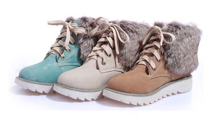 botas zapatos invierno invierno invierno cómodo caliente mujer talón 3 cm como piel 8989 b00201