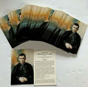 VINTAGE-LOT-100-TIMOTHEE-GIACCARDO-PRAYER-HOLY-CARDS-RELIGIOUS
