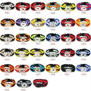 Outdoor-NFL-Lanyard-Colors-Football-Paracord-Bracelet-Super-Bowl-Wrap-Wristband