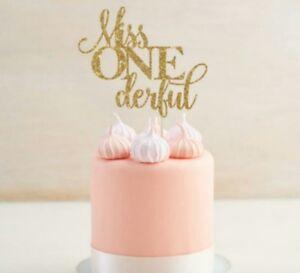 1ST BIRTHDAY MISS ONE WONDERFUL CAKE TOPPER GIRL FIRST BIRTHDAY