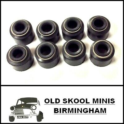 Classic Mini Valve Stem Oil Seals x8 ADU4905 austin rover mg 998 1275 inj 850 gt