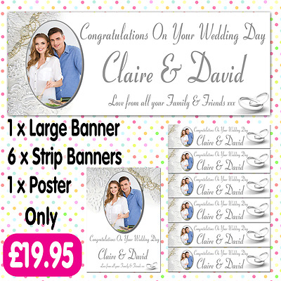 ANY EVENT A012 PERSONALISED PHOTO WEDDING PARTY POSTERS ANY AGE ANY NAME