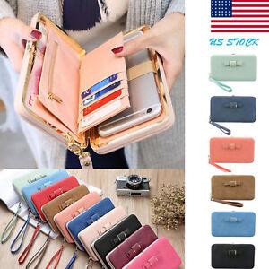Women-Lady-PU-Leather-Wallet-Purse-Long-Card-Holder-Clutch-Box-Bag-Phone-Handbag