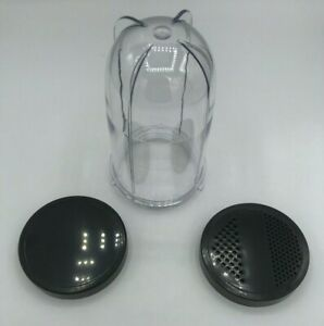 Replacement-Tall-Cup-Jar-amp-Solid-Fine-Shaker-Lid-Compatible-MagicBullet-MB1001