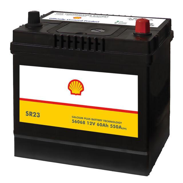 Shell SR23 Asia Autobatterie 12V 60AH Starterbatterie Plus Pol Rechts 56068