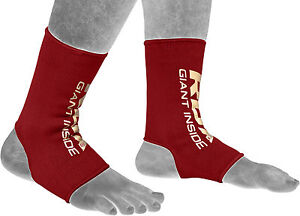 RDX-Ankle-Foot-Support-Anklet-MMA-Brace-Guard-Gym-Sport-Sock-Protector-Kick-Red
