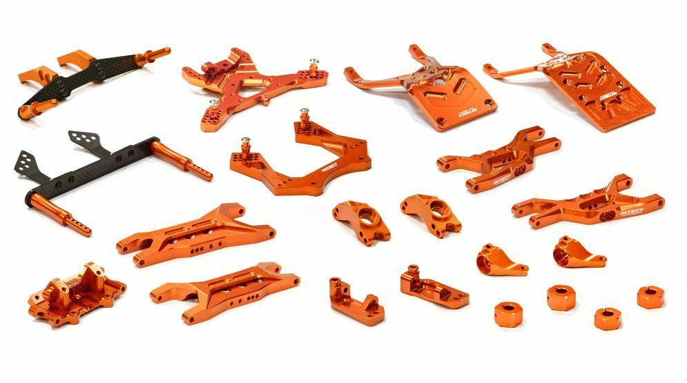 Integy Billet Aluminum Suspension Kit Traxxas Stampede 2WD arancia