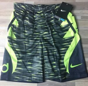 531ac8cecf83  34 Nike KD Kevin Durant Boy s Size 6 Basketball Shorts Volt Black ...