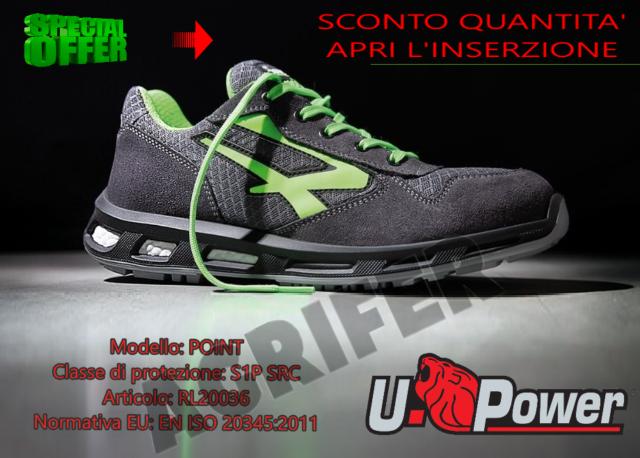 """U-POWER /""""King/"""" Scarpe di sicurezza s1p SRC en Iso 20345:2011"""