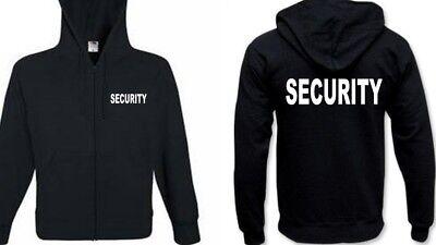 STEHKRAGEN 3x bedruckt SECURITY Bekleidung Sweatjacke Security Securityjacke