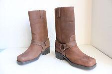 Frye Elegante Western Boots Bikerstiefel Echtleder Braun Eu:36,5-Uk:4