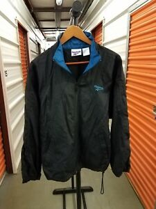 a6da93331207f Details about MINT! Vintage 90's Reebok Black Windbreaker Jacket Men's  Adult Size Medium