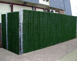 Artificial Hedge Slats Panels Fencing Outdoor Privacy