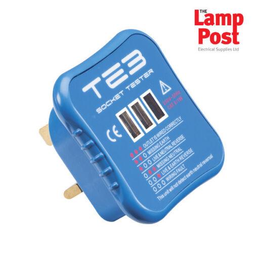 Knightsbridge te3 Plug dans Electrical Socket Farideh Testeur Electricians Tool