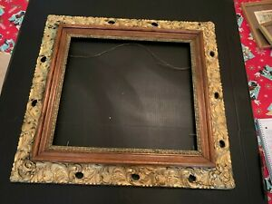 Vintage-Large-Gesso-on-Wood-Picture-Frame
