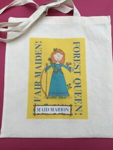 FAIR MAIDEN MAID MARION 'THE FOREST QUEEN' TOTE BAG Nottingham City Museums
