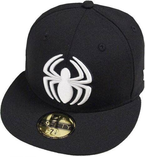 NEW Era SPIDERMAN BLACK WHITE CAP 59 FIFTY 5950 fitted Limited Special Edition