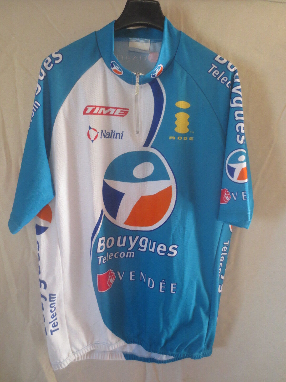 Cycling jersey Bouygues telecom tour 2005 nalini shirt jersey xxl Chavanel