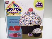 Big Top Cupcake Silicone Bakeware As Seen On Tv W/ Bonus Easy Fill Insert-