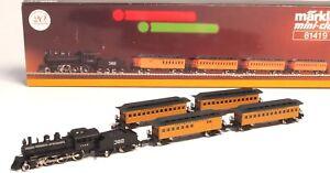 81419-Marklin-Z-scale-CASEY-JONES-Illinois-Central-RR-Train-set-5-pole-motor-USA