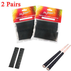 2-Pair-of-Mr-Power-Black-Drum-Stick-Grips-Soft-Tip-Anti-slip-Drumsticks-Grip-NEW