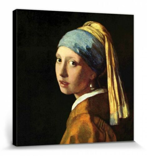 Jeune Fille À La Perle Poster Toile Châssis 40x40cm #70577 Johannes Vermeer