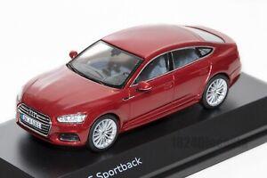 AUDI-A5-Sportback-Rojo-oficial-concesionario-de-Audi-Modelo-Escala-1-43-regalo-de-coche