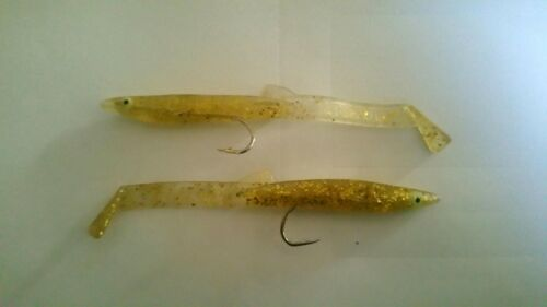 Lot of 15 fishing lures sand eels for a la trolling or support the place and bars