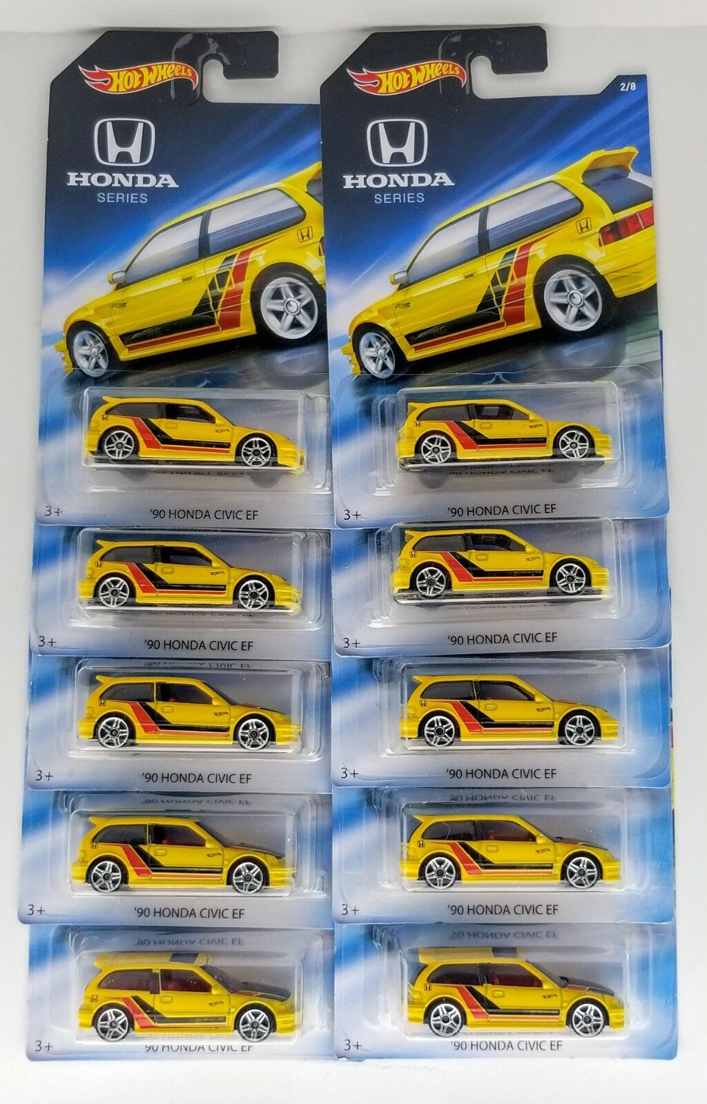 2018 HOT WHEELS Walmart Honda Série'90 HONDA CIVIC EF Lot de 10