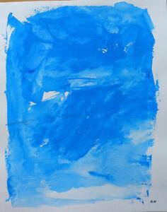 FidèLe Joseph Iliu (1914-1999) Grande Composition Abstraite Gouache Sur Papier (89)
