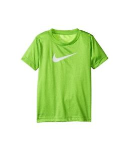 Nike-Toddler-Boys-Swoosh-Dri-Fit-Volt-Heather-Short-Sleeves-Tee-Shirt-New