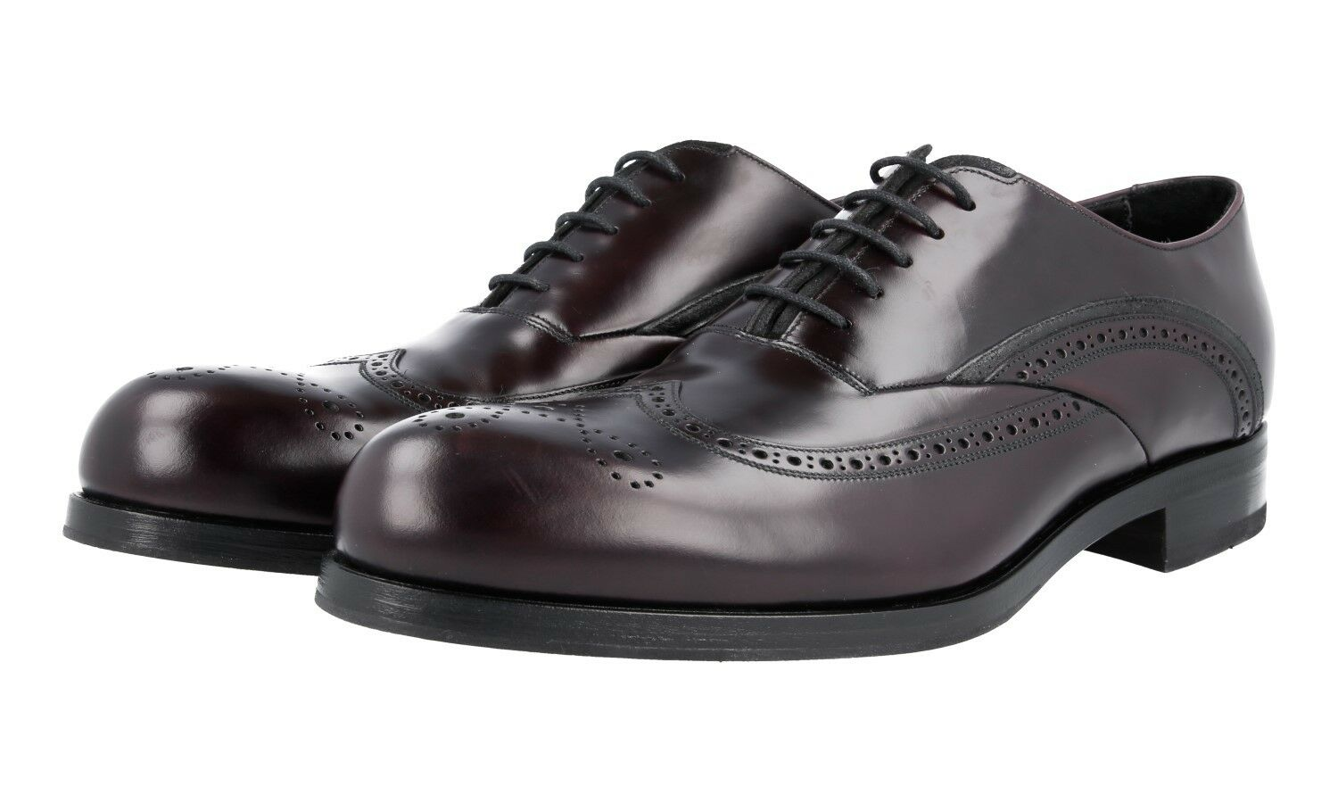 L SO PRADA WINGTIP BROGUE OXFORD scarpe 2ee201 CORDOVAN NUOVE NEW 10,5 44,5 45