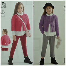 c0f43bc0dfc2 King Cole 4140 Knitting Pattern Cardigans in Big Value Recycled ...