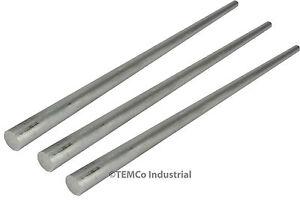 "3 LOT 3/8"" Inch Diameter 14"" Long 6061 Aluminum Round Bar Lathe Rod Stock"