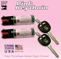 2 Pepper Spray Pink Keychains By Makers Of Bear Spray